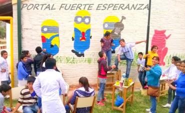 Mural Escolar de la EEP N° 887 de Fuerte Esperanza