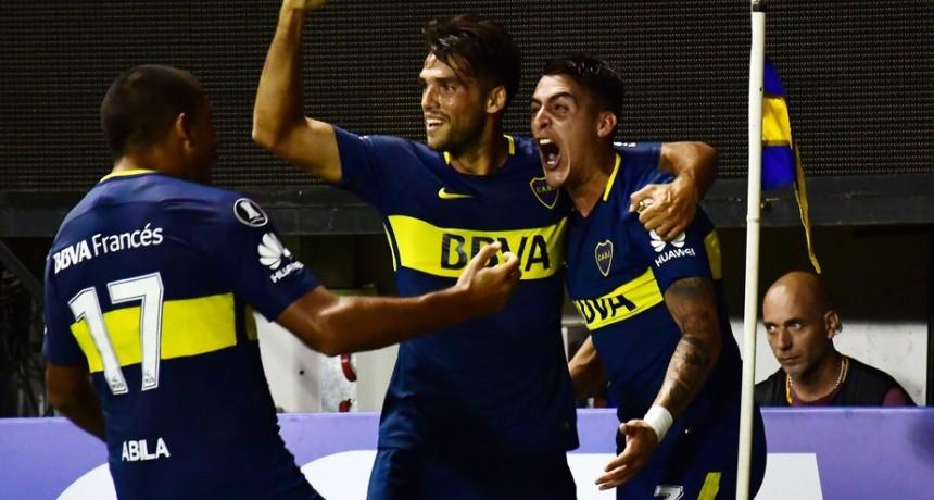 Boca venció a Junior en su regreso copero a la Bombonera