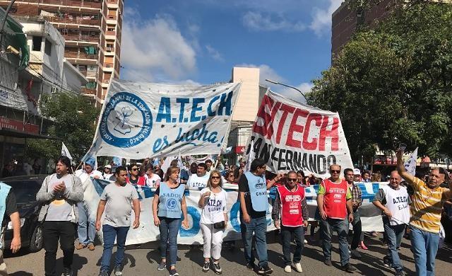 El Frente Gremial Docente desmiente el levantamiento del paró que culmina el viernes 26