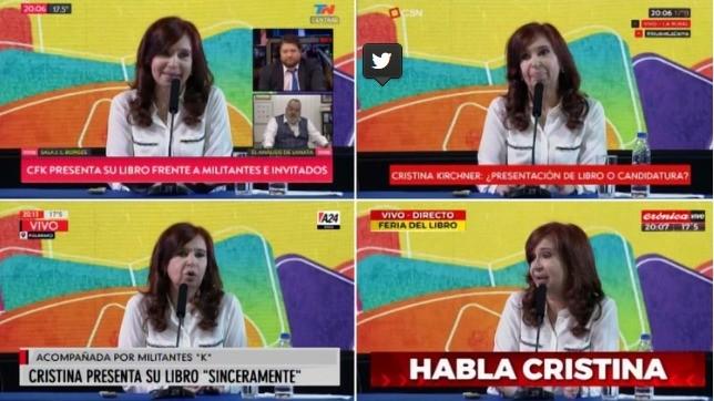 Cómo cubrió la televisión y cuál fue el rating de la presentación de «Sinceramente», el libro de Cristina Kirchner