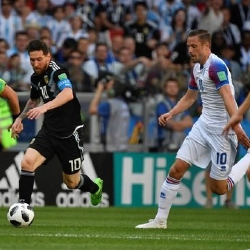 Argentina decepcionó en su debut mundialista: empató 1-1 con Islandia y le atajaron un penal a Lionel Messi