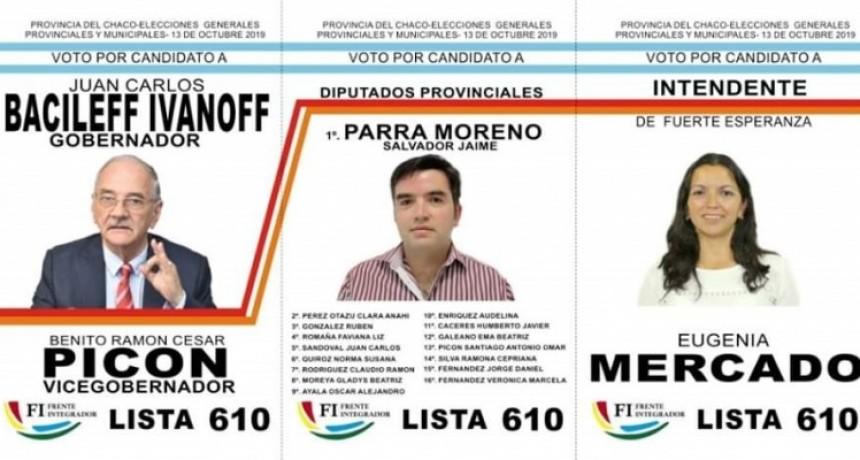 Fuerte Esperanza: El Frente Integrador presentó su boleta